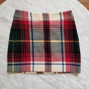 J. Crew Plaid Tartan Mini Skirt